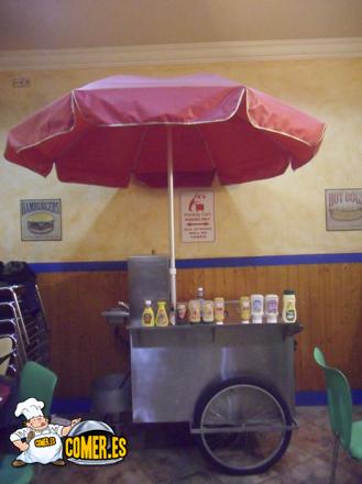 carro de perritos calientes auténtico en bilbao