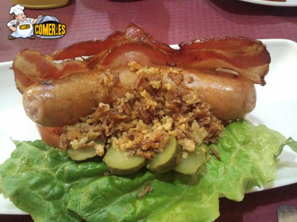 salchicha thate picante del restaurante de bilbao