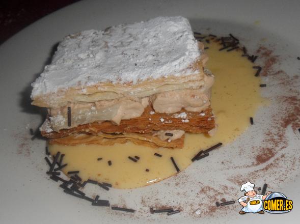 pastel de tiramisú del restaurante en bilbao
