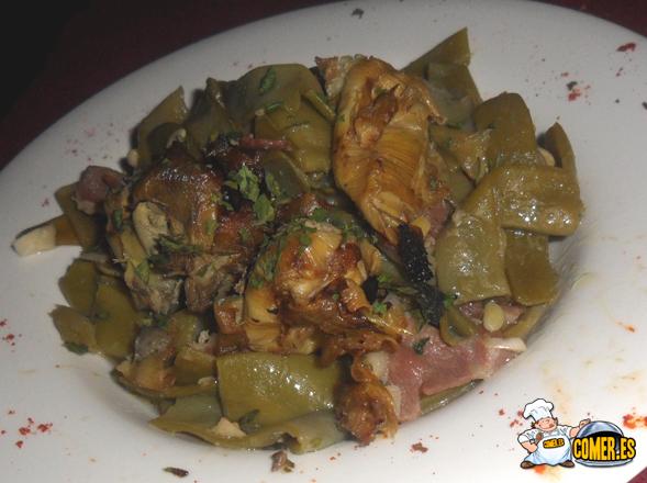 judías con alcachofas restaurante de bilbao