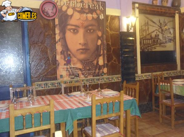 vista interior del restaurante árabe en Bilbao