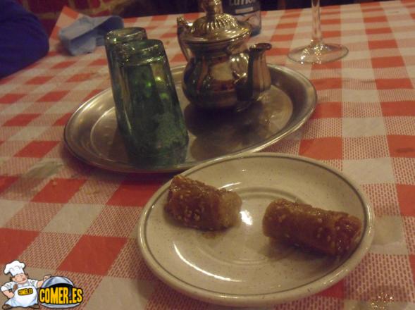 té de menta del restaurante árabe en bilbao