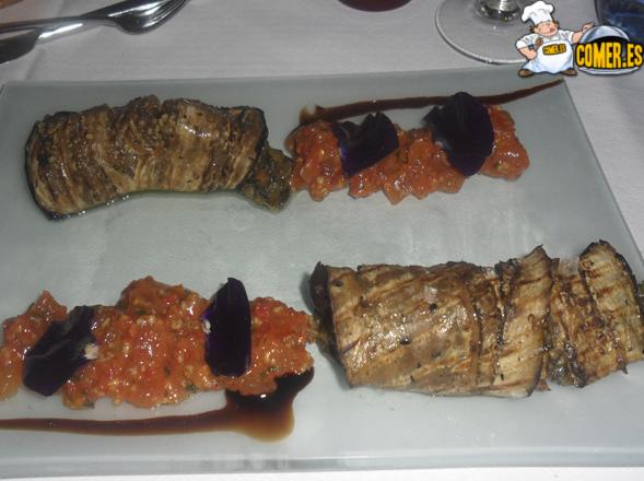 lasaña vegetariana del restaurante en bilbao