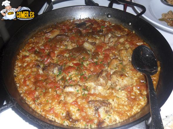 arroz de carne del resturante en bilbao