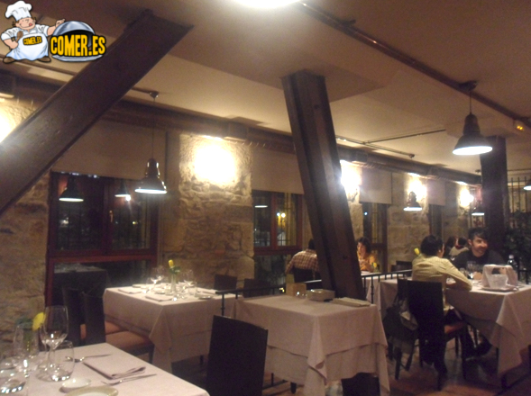 vista interior del restaurante bilbaíno