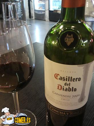 vino del restaurante en la Alhóndiga Bilbao