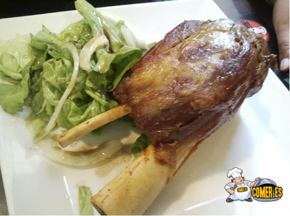 plato del menú del restaurante de bilbao en zubiarte