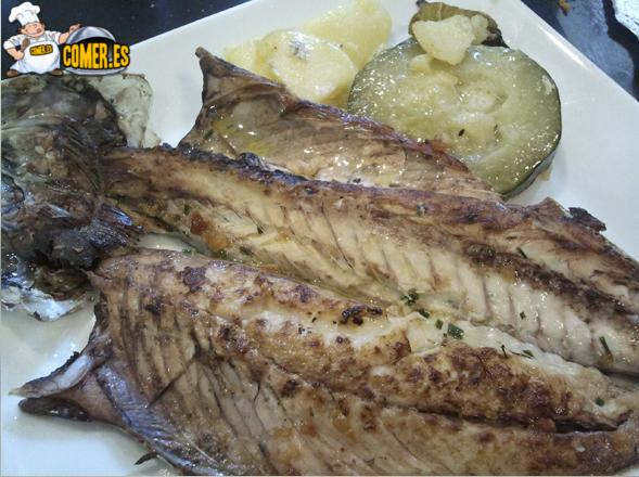 plato del menú del restaurante de bilbao