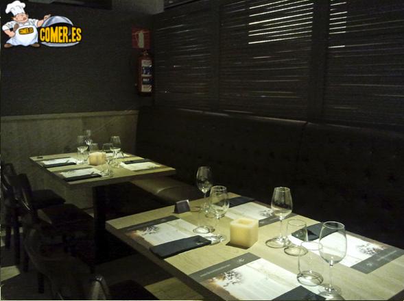 imagen interior del restaurante de bilbao