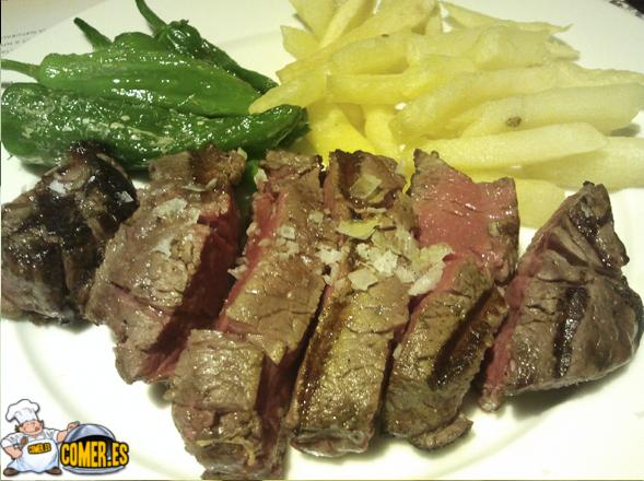 rica carne del restaurante de bilbao